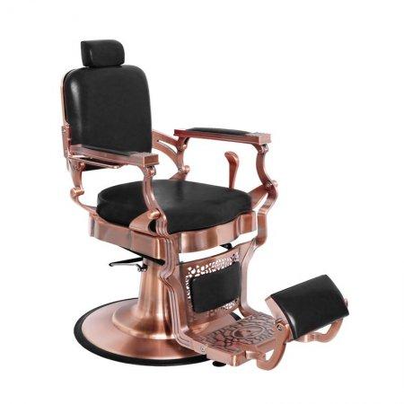 Fotel barberski Gabbiano Corrado Cupper, czarny