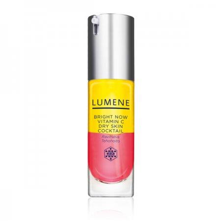 Lumene Vitamin C+, luksusowy rozświetlający koktajl witaminowy do twarzy, cera sucha, 30ml