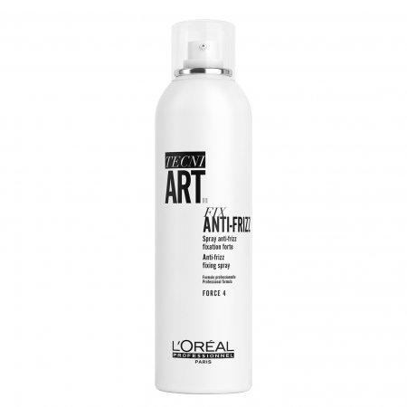 Loreal Tecni Art Fix Anti Frizz, spray mocno utrwalający, 400ml