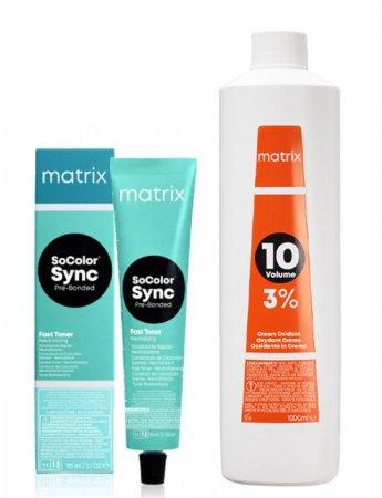 Matrix SoColor Sync Fast Toner Pre-Bonded, zestaw: toner + oksydant