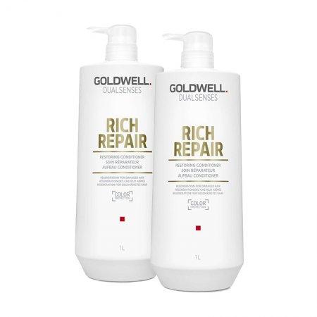 Goldwell Dualsenses Rich Repair, zestaw XL odbudowujący, 2x1000ml