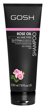 GOSH, szampon do włosów z olejkiem różanym, 230ml