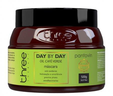 Three Therapy Cafe Verde Day by Day, maska antyoksydacyjna do włosów cienkich, 500g