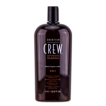 American Crew Classic, 3w1 szampon + odżywka + żel do kąpieli, 1000ml