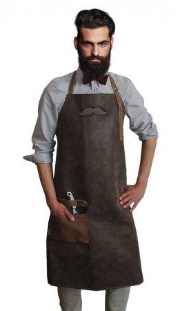 Fartuch barberski, skóropodobny, Trend-Design - brak opakowania