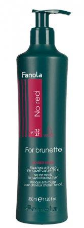 Fanola No Red, maska do brązowych włosów redukująca czerwone odcienie, 350ml
