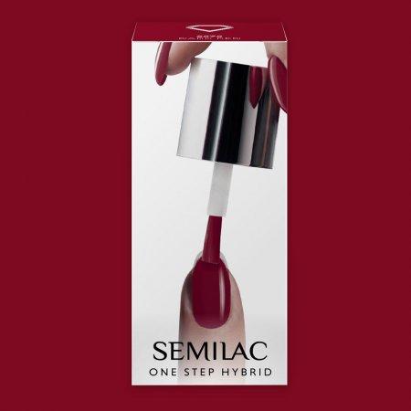 Semilac One Step Hybrid, lakier hybrydowy, 5ml, S575 Dark Red