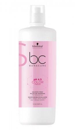Schwarzkopf BC Color Freeze pH 4.5, micelarny szampon do włosów farbowanych, bez siarczanów, 1000ml