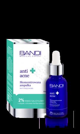 Bandi Medical Expert, Anti Acne, skoncentrowana ampułka antytrądzikowa, 30ml