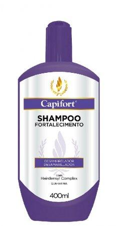 Capillus Capifort, szampon bez soli neutralizujący żółty odcień, 400ml