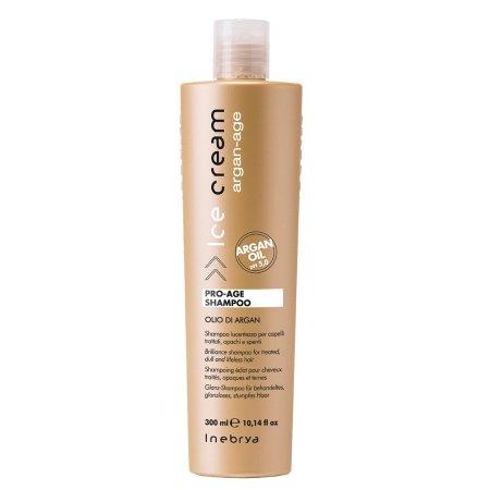 Inebrya Argan Age, szampon do włosów dojrzałych z olejkiem arganowym, 300ml