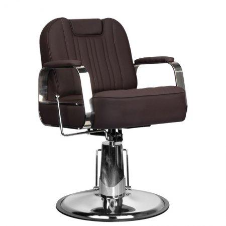 Fotel barberski Gabbiano Rufo, brązowy