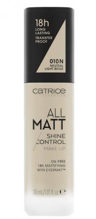 Catrice All Matt Shine Control, trwały podkład matujący 010 N, 30ml