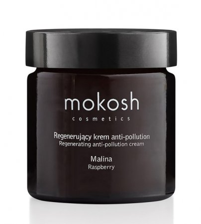 Mokosh, regenerujący krem do twarzy anti-pollution, malina, 60ml