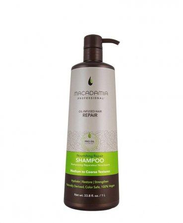 Macadamia Professional Vege, nawilżający szampon do włosów normalnych, 1000ml