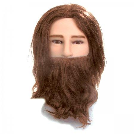Efalock, główka treningowa Rasputin, 20-25cm, 100% naturalne włosy