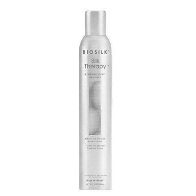 Biosilk Silk Therapy Finishing Spray Hold, bardzo mocny lakier do włosów z jedwabiem, 284g