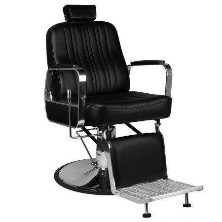 Fotel barberski Gabbiano Patrizio, czarny