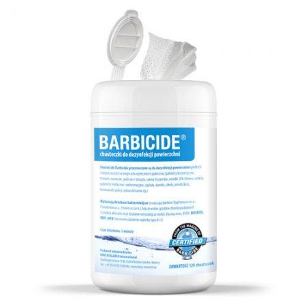 Barbicide Wipes, chusteczki do dezynfekcji wszystkich powierzchni, 120 szt