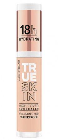 Catrice True Skin High Cover, nawilżający korektor mocno kryjący, Cool Cashmere 010, 4,5ml