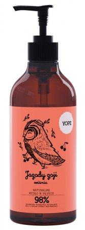 Yope, naturalne mydło w płynie, Jagody Goji i Wiśnia, 500ml