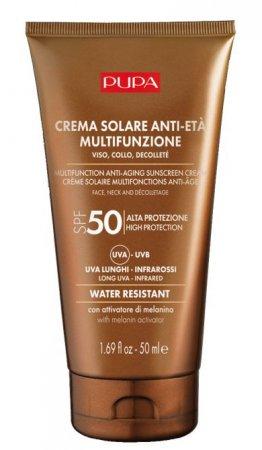 Pupa Multifunction Anti-Aging Sunscreen, krem przeciwsłoneczny SPF50, 50ml