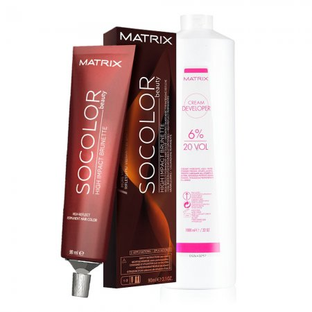 Matrix SOCOLOR.Beauty High Impact Brunette, gotowy zestaw: farba + oxydant