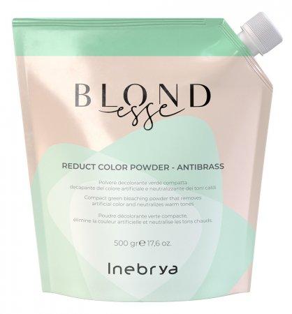 Inebrya Blondesse Reduct Color, rozjaśniacz w proszku redukujący ciepłe odcienie, 500g