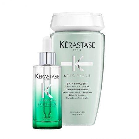 Kerastase Specifique, zestaw odświeżający, szampon + serum, 250ml + 90ml