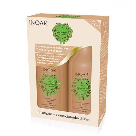 INOAR Macadamia DUO PACK, szampon + odżywka nawilżające i odmładzające, 2x250ml