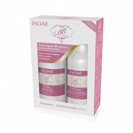 INOAR BB Cream DUO PACK, szampon + odżywka po keratynowym prostowaniu, 2x250ml