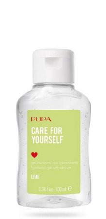 Pupa Care for yourself, żel antybakteryjny, limonka, 73% alkoholu, 100ml