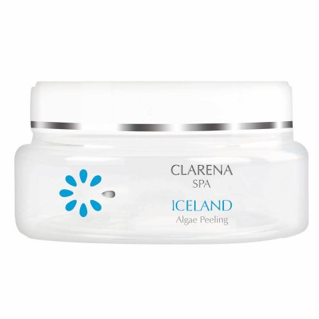 Clarena SPA Iceland, solny peeling do ciała z algami, 200ml