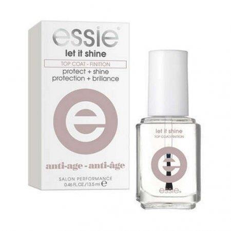 Essie Let It Shine Top Coat, lakier nawierzchniowy dający wysoki połysk, 13.5ml