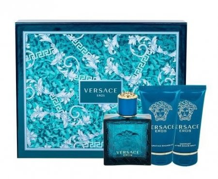 Versace Eros, zestaw perfum edt 50ml + 50ml żel pod prysznic + 50ml balsam po goleniu (M)