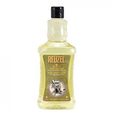 Reuzel 3in1 Tea Tree, żel pod prysznic/szampon/odżywka, 1000ml