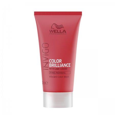 Wella Invigo Color Brilliance, maska do włosów farbowanych, normalnych i cienkich, 30ml