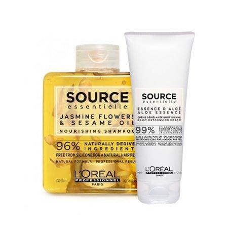 Loreal Source Essentialle, zestaw do włosów suchych, 300ml + 200ml