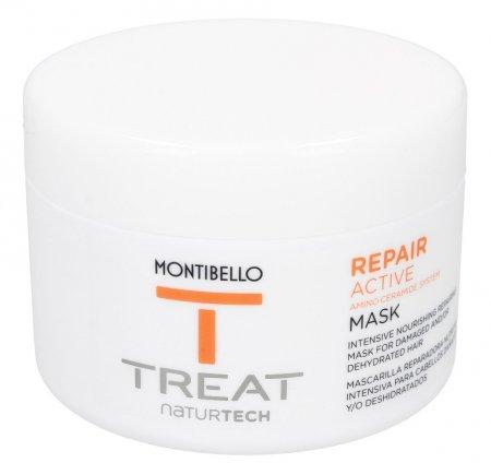 Montibello Treat Naturtech, maska do włosów zniszczonych Repair Active, 200 ml