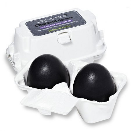 Holika Holika Charcoal Egg Soap, mydełko do twarzy, 2x50g