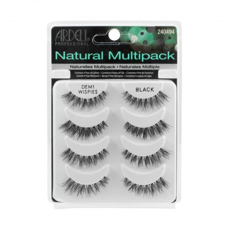 Ardell Natural Multipack, Demi Wispies Black, rzęsy na pasku, 4 pary
