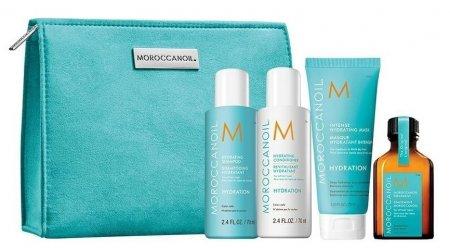 Moroccanoil, zestaw podróżny do włosów suchych + kosmetyczka