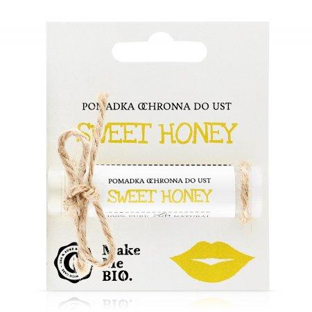 Make Me Bio Sweet honey, Pomadka ochronna do ust, 5ml