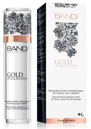 Bandi Gold Philosophy, peptydowy krem odmładzający do twarzy, szyi i dekoltu, 50ml