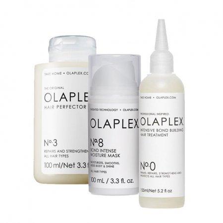Olaplex, zestaw do intensywnej regeneracji No.0, No.3, No.8, 2x100ml + 155ml