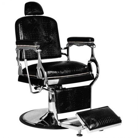 Fotel barberski Gabbiano Alfredo, czarny