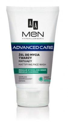 AA MEN Advanced Care, żel do mycia twarzy matujący, 150ml