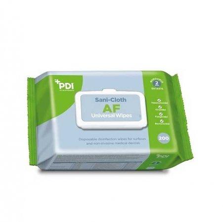 PDI Sani Cloth Universal AF, chusteczki do dezynfekcji małych powierzchni i sprzętu, 200szt. - uszkodzone opakowanie, brak plastikowego otwarcia