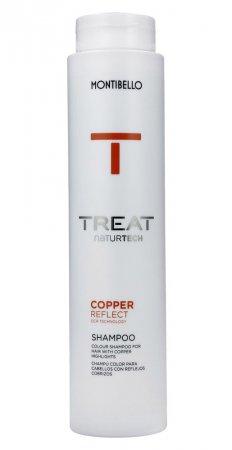 Montibello Treat Naturtech, koloryzujący szampon do włosów farbowanych Color Reflect, miedziany, 300ml