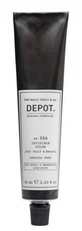 Depot No. 506, półtrwały krem koloryzujący bez amoniaku do włosów i brody, titanium, 60ml